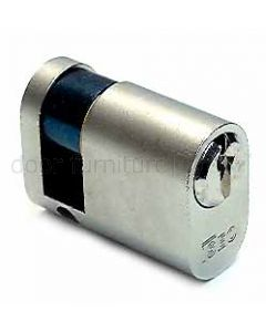 Iseo Nickel Plated Single Key Oval 5 Pin Cylinder 40mm