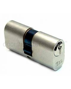 Iseo Nickel Plated Double Key Oval 5 Pin Cylinder 30x30mm