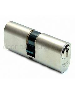 Iseo Nickel Plated Double Key Oval 5 Pin Cylinder 35x35mm