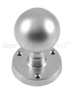 Satin Chrome Ball Mortice Door Knobs 50mm