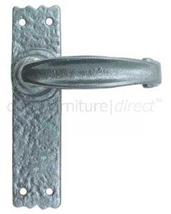 Pewter Finish Lever Latch Door Handles 152 x 38mm P2439-NK
