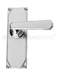 Art Deco Chrome Lever Latch Door Handles