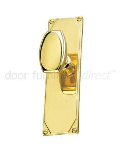 Art Deco Door Knob On Short Latch Plate Door Handles