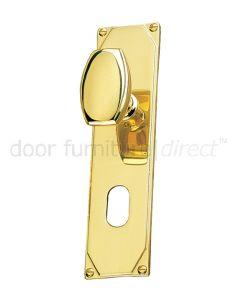 Art Deco Door Knob On Oval Plate Door Handles