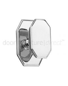 Art Deco Chrome Centre Door Knob 105x70mm