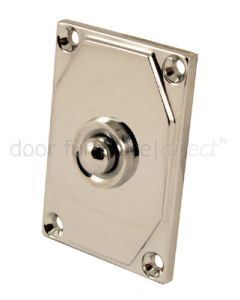 Art Deco Chrome Bell Push 63x43mm