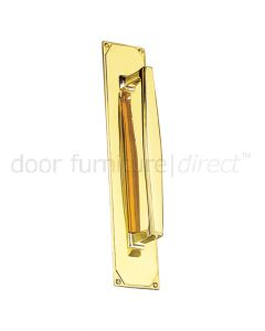 Art Deco Pull Handle On Backplate 305x63mm