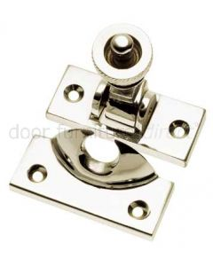 Polished Nickel Brighton Window Fastener 57x25mm