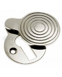 Polished Nickel Reeded Covered Escutcheon 41x32mm