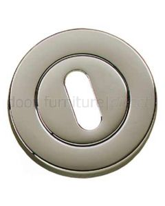 Polished Nickel Slotted Open Escutcheon 53mm