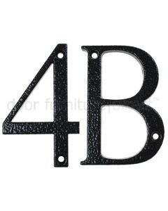 Fab and Fix Antique Black Door Numerals 0-9 and Letters A-F 80mm