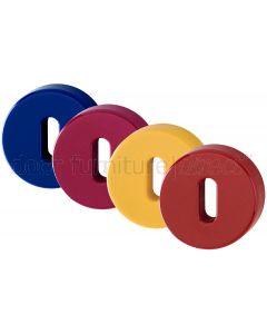 Coloured Nylon Key Escutcheons In Pairs