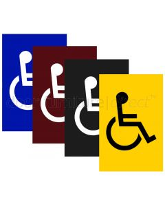 Coloured Nylon 100x150mm Disabled WC Sign