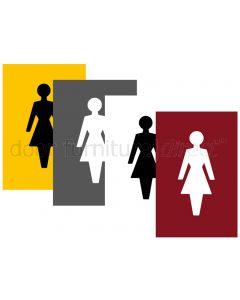 Coloured Nylon 100x150mm Female WC Sign