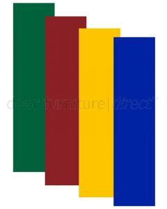 Coloured Nylon Square Corners Finger Plate 305x75mm