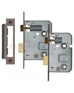 York Matt Bronze Bathroom Mortice Lock