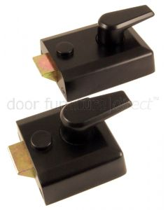 Black Front Door Nightlatch Standard and Narrow Style