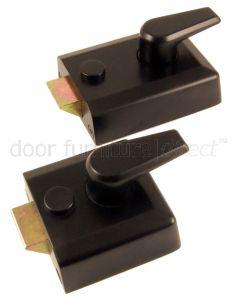 Black Front Door Nightlatch Standard and Narrow Style
