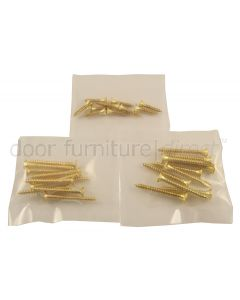Pre-Pack Brass Countersunk Wood Screws
