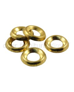 Brass Surface Cup Washers Pack of 100