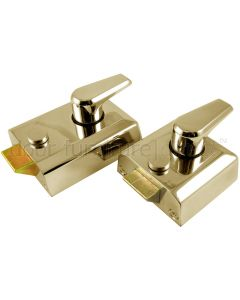 Polished Brass Front Door Nightlatch Standard and Narrow Style