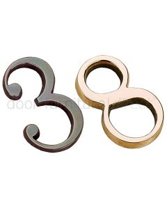 Real Bronze Concealed Numeral 3in