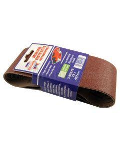 Aluminium Oxide Sanding Belts 457x75mm Pack of 3