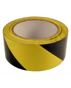 PVC Yellow and Black Hazard Tape 50mm