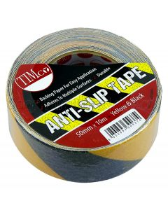 Yellow & Black Anti Slip Threshold or Floor Tape 10M x 50mm