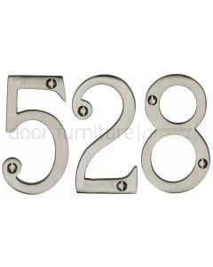 Satin Nickel 76mm (3in) Screw Fix Door Numbers