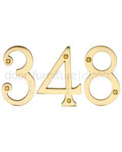Heritage C1560 Satin Brass 76mm (3in) Door Numbers