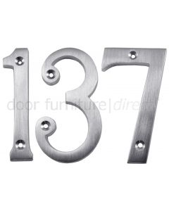Satin Chrome Screw Fix Door Numbers 0-9 3in (76mm)