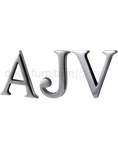 Polished Chrome Concealed Fix Front Door Letters A-Z 2in (51mm)