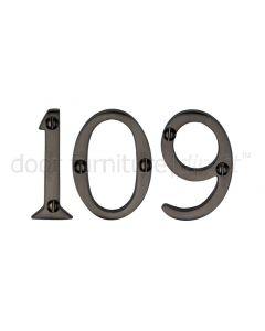 Matt Bronze Screw Fixed Front Door Numbers 0-9 2in (51mm)