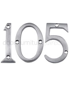 Satin Chrome Screw Fixed Front Door Numbers 0-9 2in (51mm)