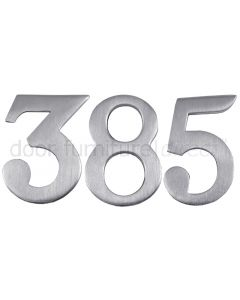 Satin Chrome Self Adhesive Front Door Numbers 0-9 2in (51mm)