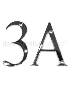 Fab and Fix Hardex Chrome Door Numerals 0-9 and Letters A-F 80mm