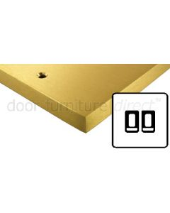 Heritage Contractor Range SAB992BN Satin Brass 2 Gang 2 Way Switch