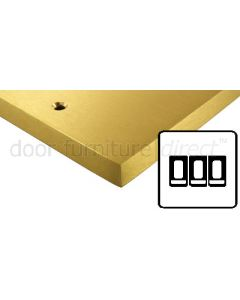 Heritage Contractor Range SAB993W Satin Brass 3 Gang 2 Way Switch