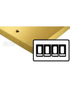 Heritage Contractor Range SAB994BN Satin Brass 4 Gang 2 Way Switch