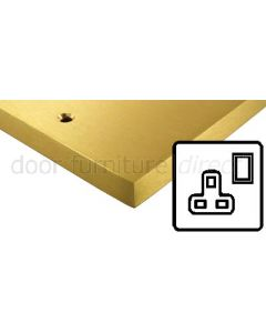 Heritage Contractor Range SAB940W Satin Brass Single 13A Socket