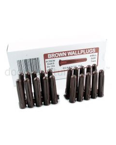 Box of 100 Brown Wall Plugs
