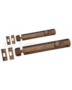 Solid Bronze Rustic Flat Door Bolt
