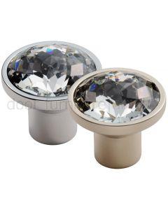 Round Crystal Cabinet Knob 34mm