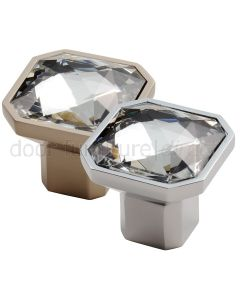 Square Crystal Cabinet Knob
