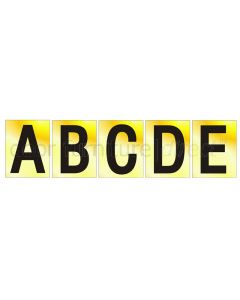 Brass Effect Self Adhesive Letters 60mm