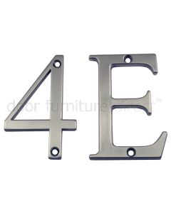 Fab&Fix Hardex Graphite Door Numerals 0-9 & Letters A-F 80mm
