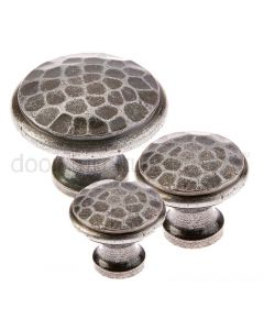 Valley Forge Pewter Hammered Cupboard Knobs