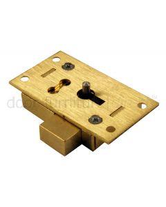 Brass Straight Cupboard Lock 2 Lever 51mm