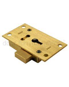 Brass Straight Cupboard Lock 2 Lever 76mm